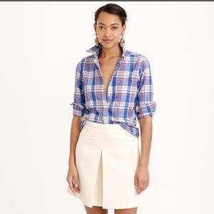 J.crew plaid cotton button down shirt